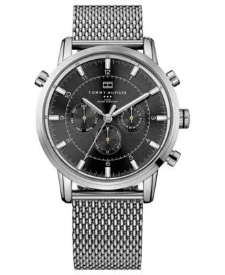 Tommy Hilfiger Men S Stainless Steel Mesh Bracelet Watch 44mm 1790877 Watches Jewelry Macy