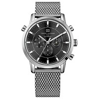 Deals on Tommy Hilfiger Mens 1790877 Silver-Tone Stainless Steel Watch