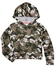 Epic Threads Big Girls Camo-Print Hoodie, Created for Macy's