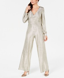 Adrianna Papell Petite Metallic Jersey Jumpsuit