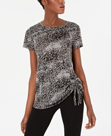 I.N.C. Knotted Burnout T-Shirt, Created for Macy's