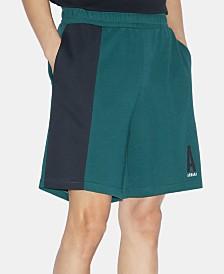 A|X Armani Exchange Men's Elastic Fleece Logo Shorts