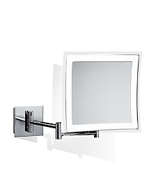 WS Bath Collections Wall Mounted Lighted Magnifying Mirror in Polished Chrome