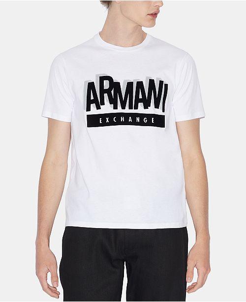 A|X Armani Exchange Men's Up & Down Logo T-Shirt