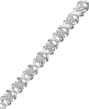 Diamond X Bracelet in...