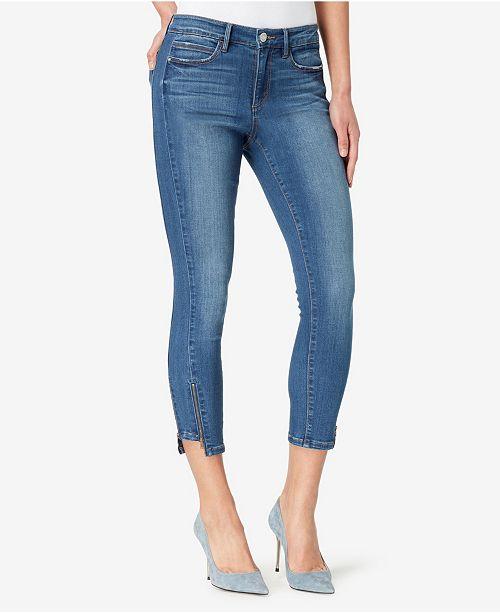 Skinnygirl Skinny Crop Jeans with Zip Hem