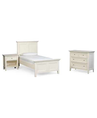 Sanibel Twin 3-Pc. Bedroom Set, Created for Macy's, (Bed, Nightstand & Chest)