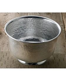 "St. Croix KINDWER 15"" Hammered Round Aluminum Punch Bowl"