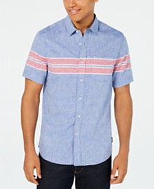 Sean John Men's Wraparound Chest Stripe Shirt