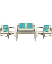 Montez 4Pc Outdoor Seating Set with Pillows