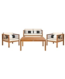 Alda 4pc Outdoor Seating Set, Quick Ship