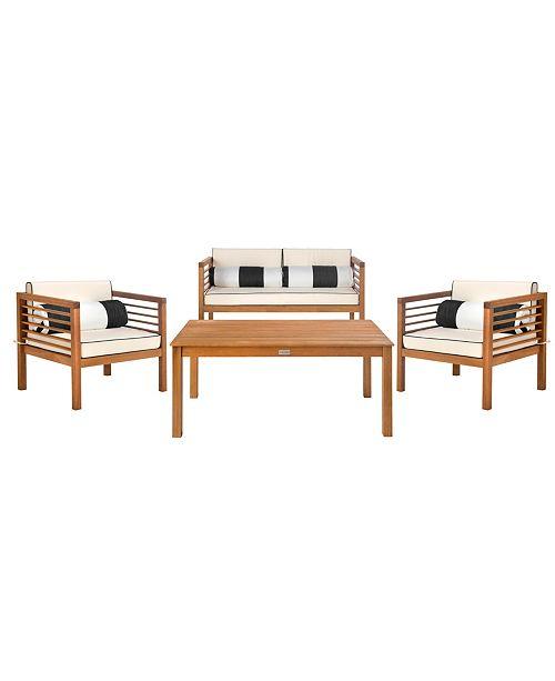Safavieh Alda 4pc Outdoor Seating Set, Quick Ship ... on Safavieh Alda 4Pc Outdoor Set id=24250