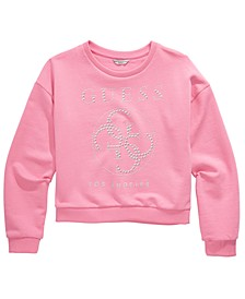 Big Girls Cotton Studded French Terry Sweatshirt