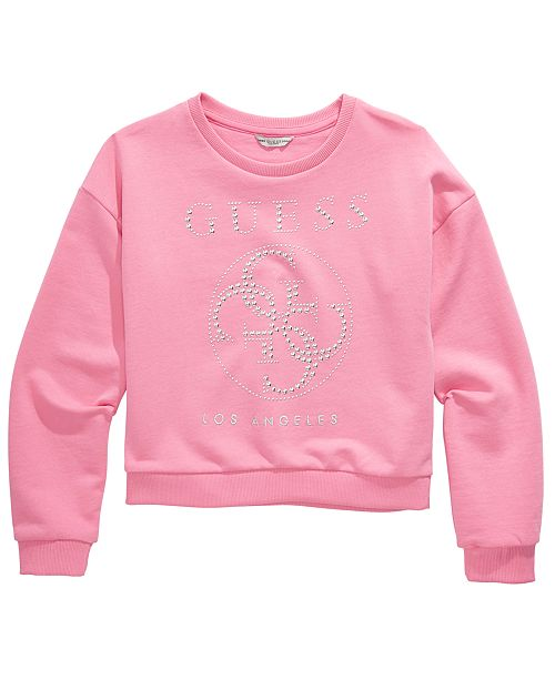 GUESS Big Girls Cotton Studded French Terry Sweatshirt