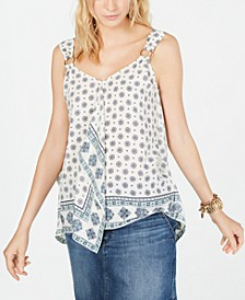 Draped O-Ring Tank Top