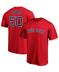 Men's Mookie Betts Boston Red Sox Official Player T-Shirt