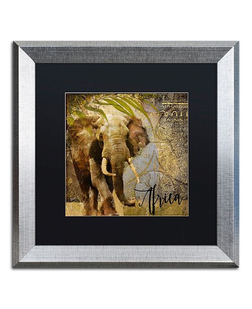 "Trademark Global Color Bakery 'Taste Of Africa III' Matted Framed Art - 16"" x 16"""