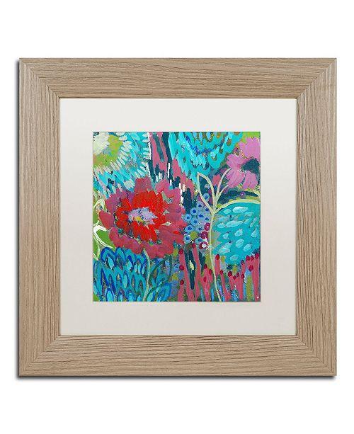 """Trademark Global Carrie Schmitt 'Shanti' Matted Framed Art - 11"""" x 11"""""""