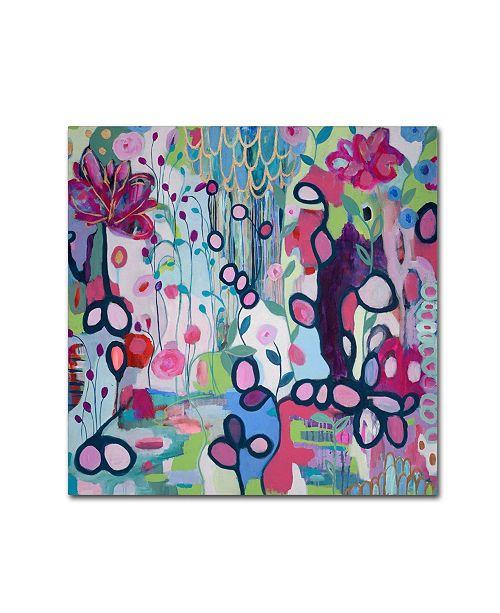 """Trademark Global Carrie Schmitt 'In The Flow' Canvas Art - 18"""" x 18"""""""