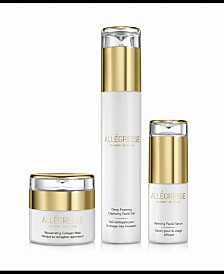 Allegresse 24K Skincare Rejuvenating and Cleansing 3 Piece Set