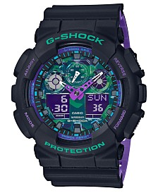 G-Shock Men's Solar Analog-Digital Black Resin Strap Watch 51.2mm