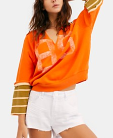 Free People Cool Day Varsity Pullover
