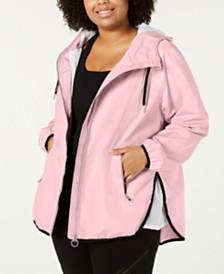 Calvin Klein Performance Plus Size Cross-Over Back Jacket
