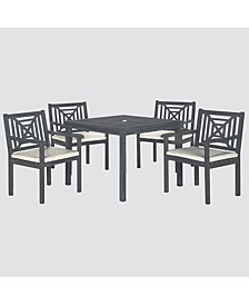 Aimie Outdoor 5-Pc. Dining Set (1 Dining Table & 4 Chairs), Quick Ship