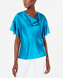 Silk Draped Blouse