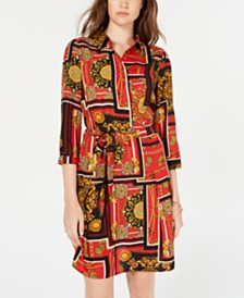 Be Bop Juniors' Printed Shirtdress