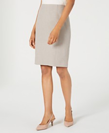 Kasper Melange Pencil Skirt