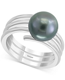 EFFY® Cultured Tahitian Pearl (10mm) Statement Ring in Sterling Silver