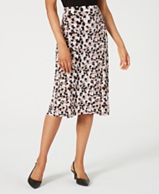 Kasper Printed Midi Skirt