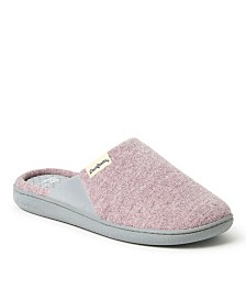 Dearfoams Women's Memory Foam Scuff Slipper, Online Only