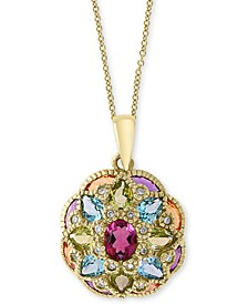 "EFFY® Multi-Gemstone 18"" Pendant Necklace (2-3/4 ct. t.w.) in 14k Gold"