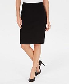 Textured Piqué Pencil Skirt