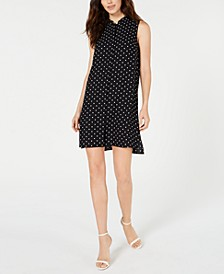 Dot-Print Shift Dress