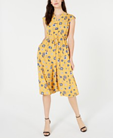Anne Klein Labretto Floral-Print A-Line Dress