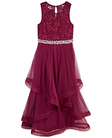 Big Girls Plus Glitter Lace Maxi Dress, a Macy's Exclusive Style