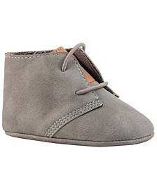 Baby Boy Nubuck Chukka Boot with tan Tongue Ankle Bootie