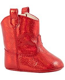 Baby Girl Crackle Metallic Western Boot