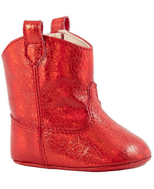 Baby Deer Baby Girl Crackle Metallic Western Boot