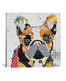 """iCanvas """"French Bulldog Head"""" by Michel Keck Gallery-Wrapped Canvas Print"""