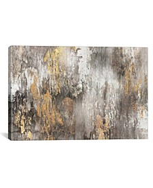 """Gold Ikat by Pi Galerie Gallery-Wrapped Canvas Print - 12"""" x 18"""" x 0.75"""""""