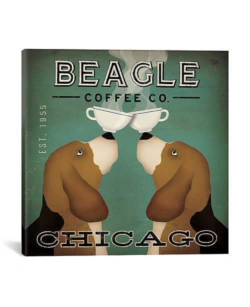 """iCanvas Beagle Coffee Co. by Ryan Fowler Gallery-Wrapped Canvas Print - 18"""" x 18"""" x 0.75"""""""