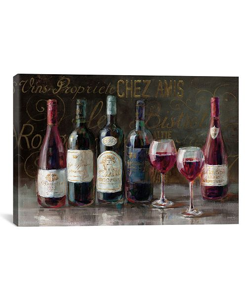 """iCanvas Bistro Reds V.2 by Danhui Nai Gallery-Wrapped Canvas Print - 26"""" x 40"""" x 0.75"""""""