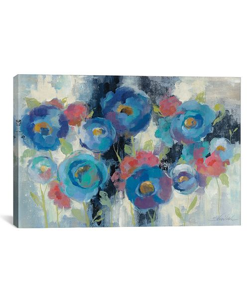 """iCanvas Day and Night Florals I by Silvia Vassileva Gallery-Wrapped Canvas Print - 26"""" x 40"""" x 0.75"""""""
