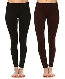 Pack of 2 Solid Leggings