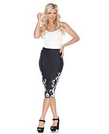 White Mark Jordan Pencil Skirt