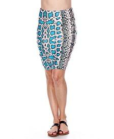 Print Pencil Skirt